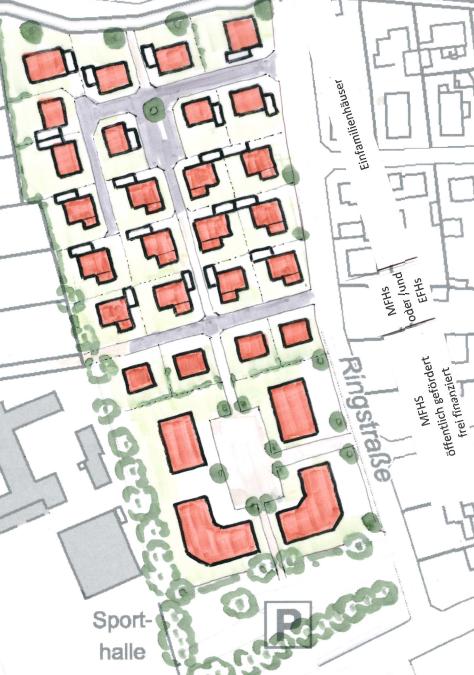 Planungsstand Baugebiet