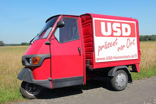 Unser Markenzeichen - die Ape der USD