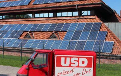 Photovoltaik-Freiflächenanlage am zentralen Klärwerk